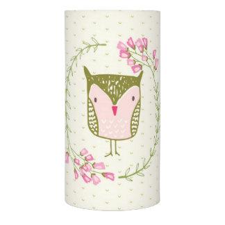 かわいいフクロウの花のリースおよびハート LEDキャンドル