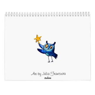 かわいいフクロウの芸術 カレンダー