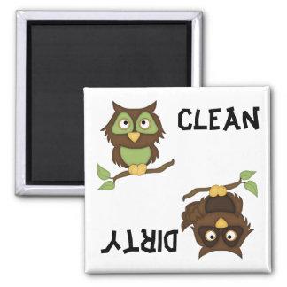 かわいいフクロウの食洗機の磁石 マグネット