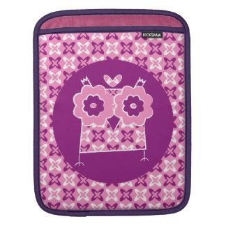 かわいいフクロウのiPadの袖 iPadスリーブ
