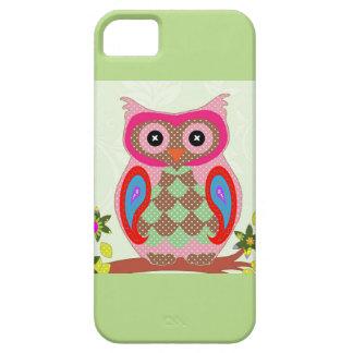 かわいいフクロウのiPhone 5の場合の緑 iPhone SE/5/5s ケース