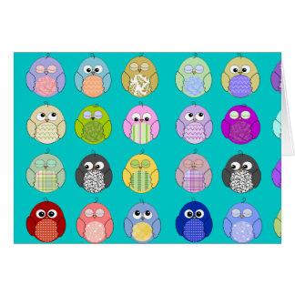 かわいいフクロウパターン カード