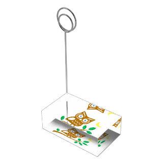 かわいいフクロウ テーブルカードホルダー