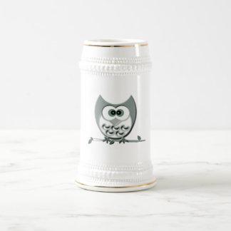 かわいいフクロウ ビールジョッキ
