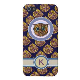 かわいいフクロウ-フクロウのイニシャル iPhone 5 CASE