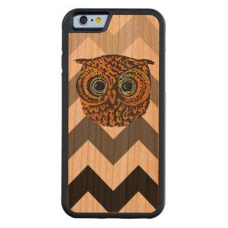 かわいいフクロウ CarvedチェリーiPhone 6バンパーケース