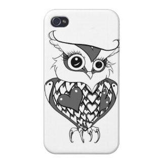 かわいいフクロウ iPhone 4/4S COVER