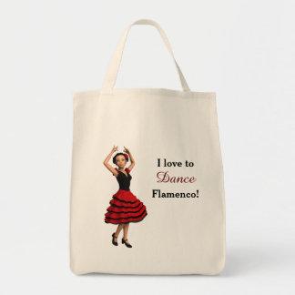 かわいいフラメンコのダンサー(名前入りな) トートバッグ