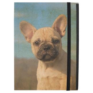 """かわいいフレンチ・ブルドッグの子犬のヴィンテージのポートレートは保護します iPad PRO 12.9"""" ケース"""
