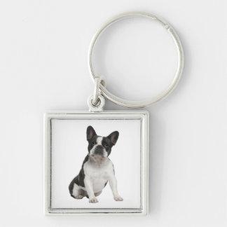 かわいいフレンチ・ブルドッグの小犬Keychain キーホルダー
