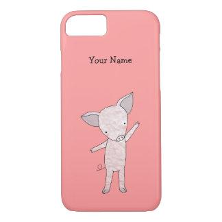 かわいいブタのカスタムなiPhoneの場合の名前入りなiPhone 7 iPhone 8/7ケース