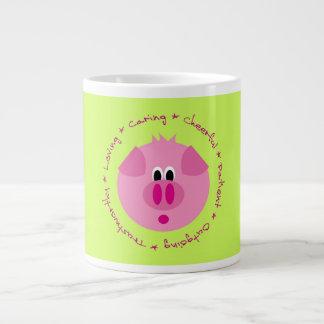 かわいいブタのマグ ジャンボコーヒーマグカップ