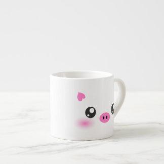 かわいいブタの顔-かわいいのミニマリズム エスプレッソカップ