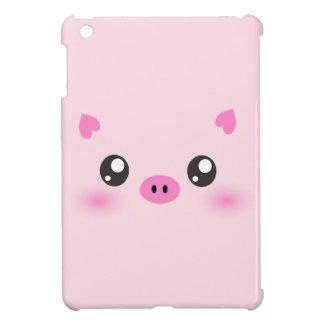かわいいブタの顔-かわいいのミニマリズム iPad MINIカバー