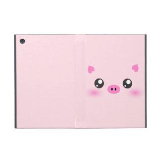 かわいいブタの顔-かわいいのミニマリズム iPad MINI ケース