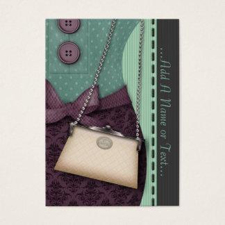 かわいいブティックのレトロの用品類およびハンドバッグ チャビ―名刺