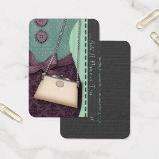 かわいいブティックのレトロの用品類およびハンドバッグ 名刺