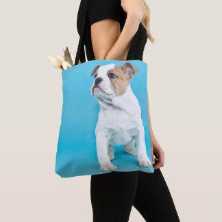かわいいブルドッグの子犬 トートバッグ