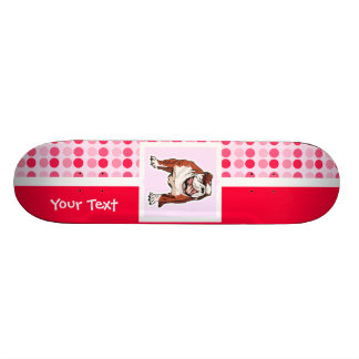 かわいいブルドッグ スケートボード