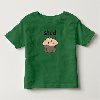 かわいいブルーベリーのスタッドのマフィンの名前入りなTシャツ トドラーTシャツ