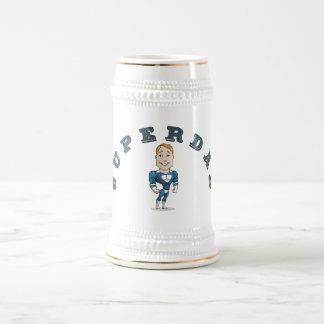 かわいいベクトル漫画によってすごいパパ ビールジョッキ