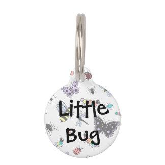 かわいいベクトル虫及び蝶 ペット ネームタグ