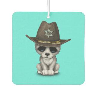 かわいいベビーのオオカミの保安官 カーエアーフレッシュナー