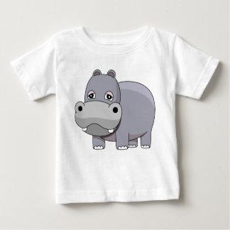 かわいいベビーのカバ ベビーTシャツ