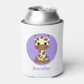 かわいいベビーのキリンのかわいいの漫画の子供はクーラーを缶詰にします 缶クーラー