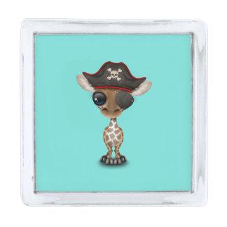 かわいいベビーのキリンの海賊 銀色 ラペルピン