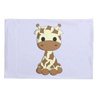 かわいいベビーのキリンの漫画の子供 枕カバー