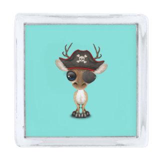 かわいいベビーのシカの海賊 シルバー ラペルピン