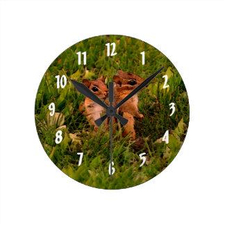 かわいいベビーのシマリス動物の芸術 ラウンド壁時計