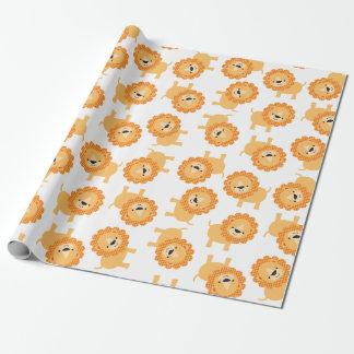 かわいいベビーのジャングルのライオンの包装紙 ラッピングペーパー