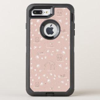 かわいいベビーのジャングル動物を表示するパターン オッターボックスディフェンダーiPhone 8 PLUS/7 PLUSケース