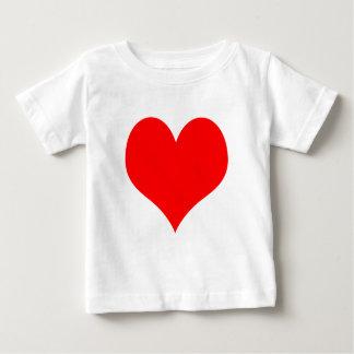 かわいいベビーのティーの赤いハート ベビーTシャツ