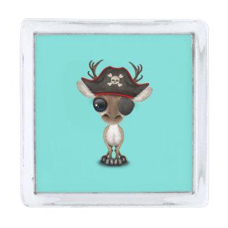 かわいいベビーのトナカイの海賊 シルバー ラペルピン