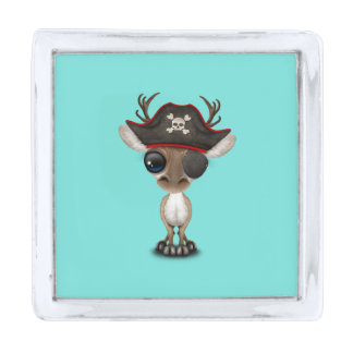 かわいいベビーのトナカイの海賊 銀色 ラペルピン