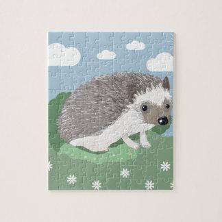 かわいいベビーのハリネズミのジグソーパズル ジグソーパズル