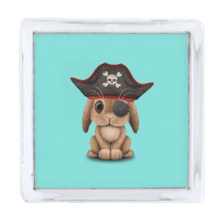 かわいいベビーのバニーの海賊 シルバー ラペルピン