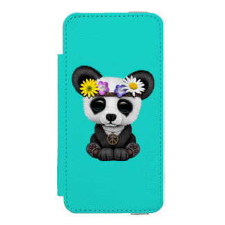 かわいいベビーのパンダのヒッピー INCIPIO WATSON™ iPhone 5 財布 ケース
