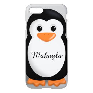 かわいいベビーのペンギンの名前入りな名前 iPhone 8/7 ケース