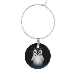 かわいいベビーのペンギンの星が付いている身に着けている目ガラス ワインチャーム