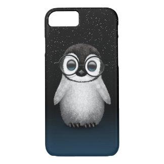 かわいいベビーのペンギンの星が付いている身に着けている目ガラス iPhone 8/7ケース