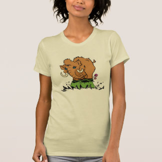 かわいいベビーのマンモスのTシャツ Tシャツ