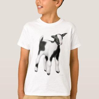 かわいいベビーのヤギはTシャツをからかいます Tシャツ