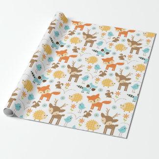 かわいいベビーの森林動物の包装紙 ラッピングペーパー