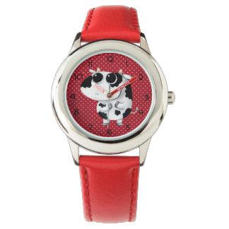 かわいいベビー牛 腕時計