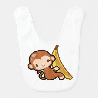 かわいいベビー猿のほんの少しバナナ ベビービブ