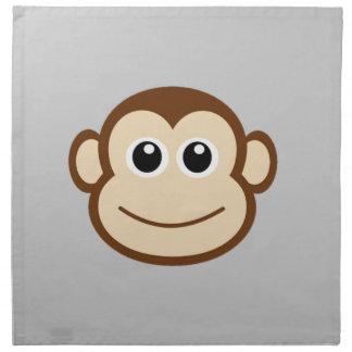 かわいいベビー猿の顔 ナプキンクロス